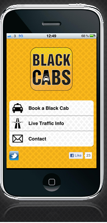 Black Cabs App On The Iphone And Ipad London Mini Cabs