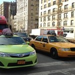 yellow taxi cabs of NYC